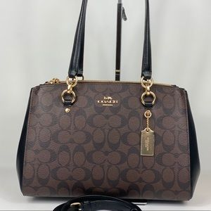 NWT Coach Etta Carryall Satchel Brown